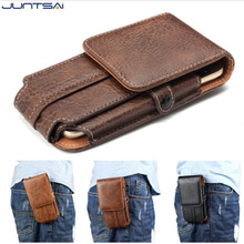 4.7''-6.3''inch For Samsung galaxy S8 S8plus Universal Leather Belt Clip Holster Phone Pouch phone Case Bag Smartphone bags(China)