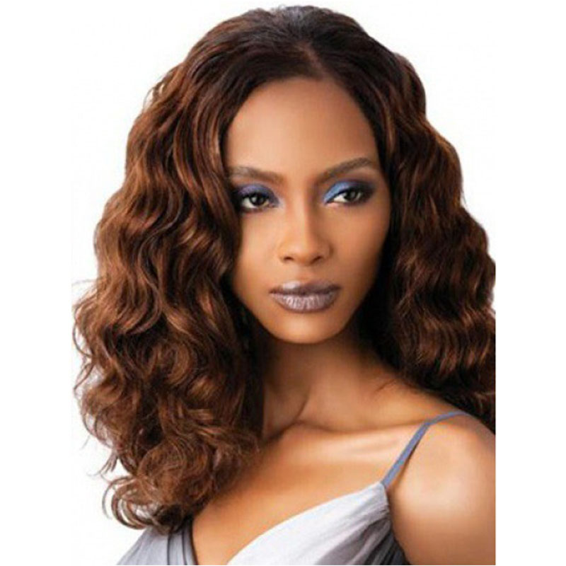 Fashion Long Curly Hairstyle Ombre Color Synthetic Hair Afro American Beauty Natural Wigs 8266<br><br>Aliexpress