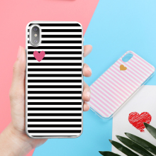 Ultrathin Stripe Cartoon Cover Soft TPU Silicone Transparent Crystal Case Coque for iPhone X 4 4S 5 5S SE 5C 6 6S 7 8 Plus Funda