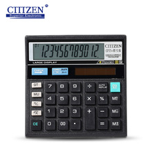 GTTTZEN CT-512 Classical Finance Desktop Dual Power 12 Digits Calculator Solar Calculadora