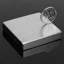 1PC HUGE VERY STRONG 50 x 54 x 10mm Neodymium Block Magnet N35 Magnet DIY Permanent Magnet Wind for Turbine