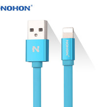 Original NOHON 8 Pin USB Cable For Apple iPhone 7 6 6S Plus 5 5S SE iPad 4 Air 2 iPod Nano Fast Charging Data Sync Noodle Cable(China)