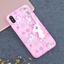 Cute 3D Toy Unicorn Case For Coque iPhone 6 7 8 Plus Case Soft Silicon Case Back Cover for iPhone 5S 5 SE Case For iPhone X Etui(China)