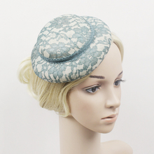 Wholesale Vintage Lady Lace Linen Fascinator Hat Base 16.5CM DIY Women Headwear Cocktail Wedding Party DIY Girl Hair Accessories