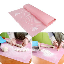 Silicone Baking Mat Cooking Plate Table Cake Fondant Dough Rolling Kneading Mat Baking Mat with Scale Grill Pad Tools