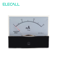 ELECALL 44L1 30mA Analog Amp Panel Meter Current Ammeter AC 0-30mA Vertical Installation(China)