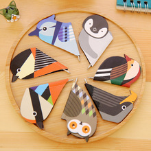 6 pcs/Lot Cute animal mini magnetic bookmark with blue ink ballpoint pen Birds Magnet book mark Stationery School supplies 6388