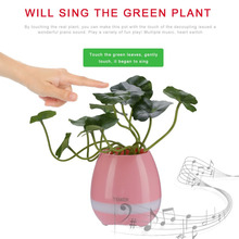 Unique LED Bluetooth Speaker Smart Music Flower Pots Night Light Touch Sensors Play The Piano Decoration Perfect Gifts