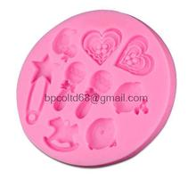Silicone DIY 3D cartoon characters bulk love chocolate fondant cake decorating mold baby CD-F157(China)