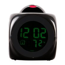 Digital LCD Voice Talking LED Projection Alarm Clock Temp Station(China)