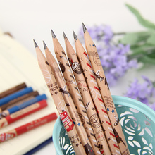 12PCS/set Cute Soldier Wooden Hexagonal Bar 2B Pencil Standard Pencil for Drawing Painting Stationery Supplies