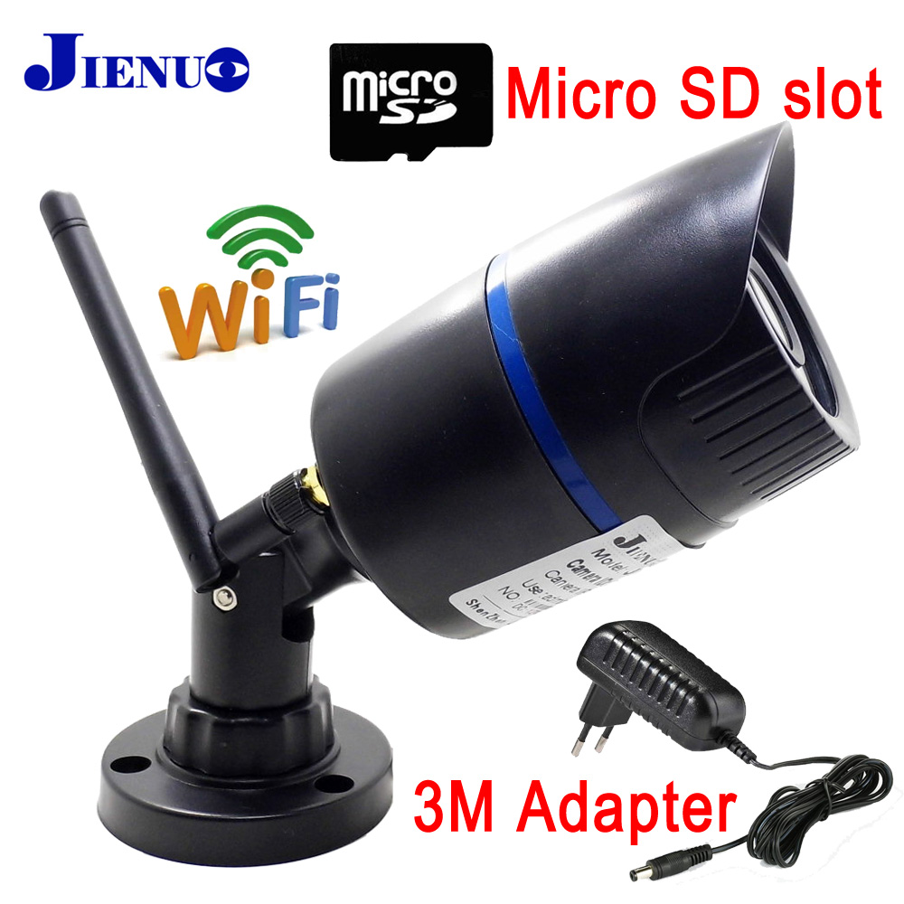 JIENU 720P 960P 1080P ip camera with wifi wireless Security surveillance video camera P2P Support memory card onvif<br>