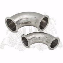 Tri-clamp elbow 2'' (51mm )OD64 ,  90 degree bend pipe