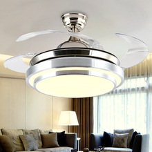 Luxury Decorative Ceiling Fan Light Remote Control Wall Switch 110v 220V Vintage Led Lights Folding Leaf Double Kit Fixtures