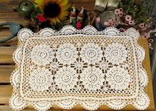HOT Cotton Crochet tablecloth white Table cloth towel doilies rectangular lace Table Cover nappe kitchen for home wedding decor