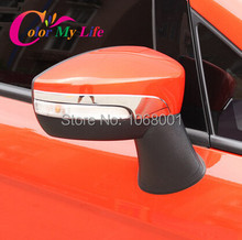 Kuga Escape Rearview Mirror Auto Styling Protection Strips 1Pair Maverick Chafting Strip For Ford Kuaga Escape