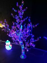 Free ship 5ft 1.5 Height Outdoor /Indoor LED Crystal Cherry Blossom Tree Christmas holiday party brithday Tree Light 558 LEDs(China)