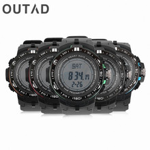 OUTAD Heart Rate Monitor Men Watches LCD Display With Pedometer Calories Wristwatch Counter Fitness Sport Gift For Elderly