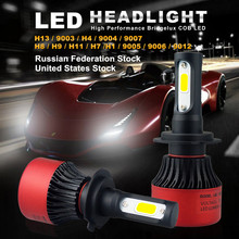 AUXITO 2x H7 H8 H9 H11 H1 H13 H4 9003 9004 9005 9006 9007 9012 Car LED Headlights Bulb High Low Beam 16000LM Headlamp(China)