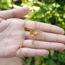 10pcs/lot Fashion Origami Hummingbird Necklace Geometric  jewelry cute bird pendant necklace  Animal lover gift