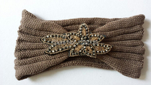 Beads Flower Handmade Knit Headband Headwrap Crochet Headbands Headwear