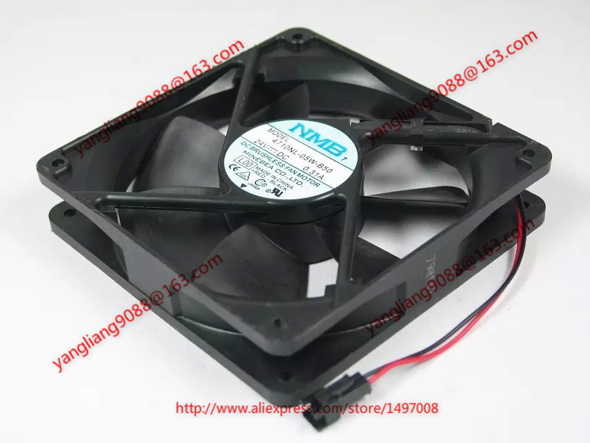 NMB 4710NL-05W-B50, L00 DC 24V 0.31A, 120x120x25mm 2-wire 70mm Server Cooling Square fan Free Shipping <br>