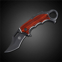 PEGASI High Quality Karambit Knife 3CR13MOV Titanium Stainless Steel Scorpion Claw Folding Blade Knife Camping Tool(China)