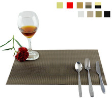 PVC Placemat Home Table Waterproof Heat Insulation Tableware Cup Mat Weave Slip-resistant Pad  J2Y