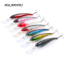 7pcs Deep sea Fishing lures Wobbler artificial bait Fishing fake fish Tackle Minnow Carp fishing Crankbait peche D236(China)