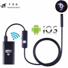 TRINIDAD WOLF 8MM Lens Wifi Wireless Endoscope Inspection Camera Waterproof Borescope For Iphone IOS Windows Android 1m 2m 5m