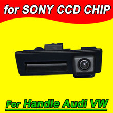 CCD Handle trunk car parking reverse camera for Audi A4 VW Tiguan Touareg Skoda Posche Golf Passat back up reverse rear view
