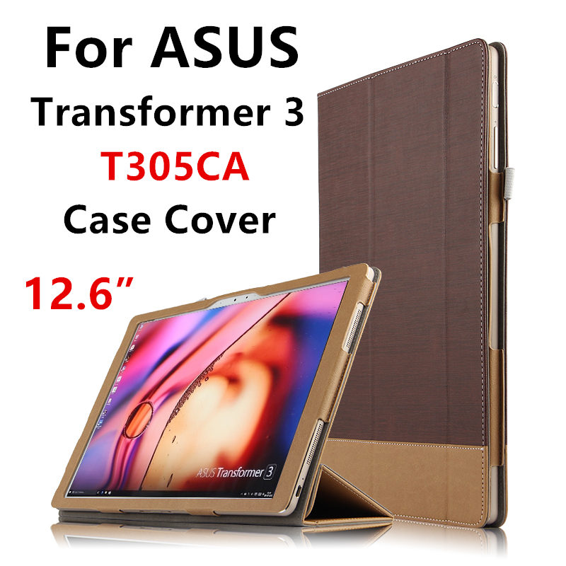 Case For ASUS Transformer 3 T305CA Protective Smart cover Protector Leather Tablet PC T305 UA PU Sleeve 12.6 inch Covers Holste<br>