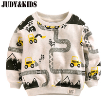 T-Shirts For Boys Sweater Car Print Baby Autumn New Children's Shirts Clothes For Adolescent Boys Sweatshirt Tops Kids Clothing