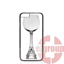 For Apple iPhone 4 4S 5 5C SE 6 6S 7 7S Plus 4.7 5.5 Soft TPU Silicon Mobile Pouch paris eiffel tower red wine glass