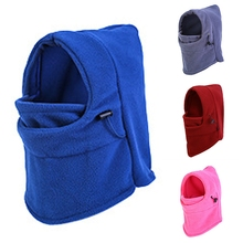 Thermal Fleece Balaclava Hat Hood Wind Stopper Face Mask Men Neck Warmer Winter Fleece Motorcycle Neck Helmet Cap