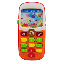 Children Kids Electronic Mobile Phone with Sound Smart Phone Toy Cellphone Early Education Toy Infant Toys Random Colors(China)