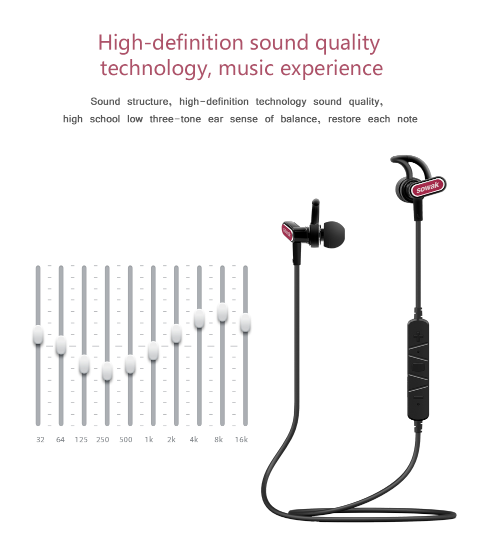 Sowak S5 IPX4 sweatproof headphonesmini wireless earpiece bluetooth earphone for phone