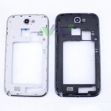 Black/White Full Housing Cover Repair Parts For Samsung Galaxy Note II 2 N7100 / Note2 Mid Housing Cover Frame Chassis Bezel(China)