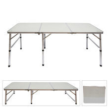 3-Fold Table Adjustable Portable Aluminum Alloy Light Weight Foldable Table for Camping Outdoor Picnic FP8(China)