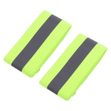 2PCS/Pair Elastic Ankle Wrist Bands arm For Waling Cycling Running Outdoor Sports High Visibility Band Reflective Wristbands