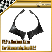 Car-styling For Nissan R32 GTR FRP Fiber Glass Rocket B Style Front Over Fender With Fiberglass Extension 4pcs Mudguard Trim