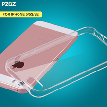 PZOZ for iPhone 5 se case 360 be screen protection shockproof original bumper fundas transparent silicone for iPhone5se 5se case