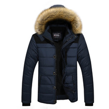 Men Winter Jacket Brand Thick Warm Zipper Down Parka Jacket Men Thicken Outerwear Padded Coat Male Fur XXXXL Casacos Masculino(China)