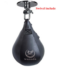 Double End Muay Thai Boxing Punching Bag Speed Ball Pear Punch Training Fitness saco de da boxeo (With hanging)