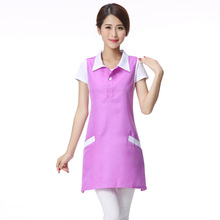 Fashion Sleeveless Dress Women Workwear Beauty Spa Working Apron Waitress Slim Dresses Manicure Shop Women Dress(China)