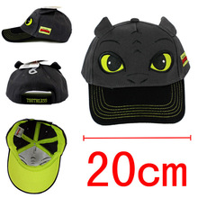 How to Train Your Dragon action figure toys Cosplay NightFury Baseball Cap Cute Cartoon Sun Hat For Children Boys