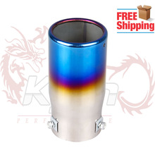 Free Shipping Car Stainless Steel Exhaust Pipe Chrome Round EXHAUST Tail Muffler Tip Pipe Universal Fits Neo Chrome