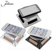 New Arrival Silver/White Solar Powered 360 Rotating Display Stand Turn Table Plate for Jewelry Watches Phone Bracelet Organizer