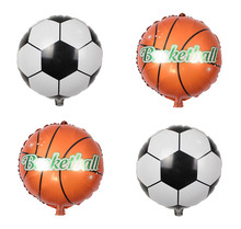 10pcs/lot Football Basketball Foil Balloons Inflatable Helium Balloon Children Classic Toys Happy Birthday Party Air Balloons(China)