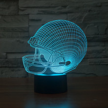 Creative Gifts American Football 3D Evening Light USB Rugby Desk Lampara as Home Decor Bedroom Reading Lamp Touch Sensor